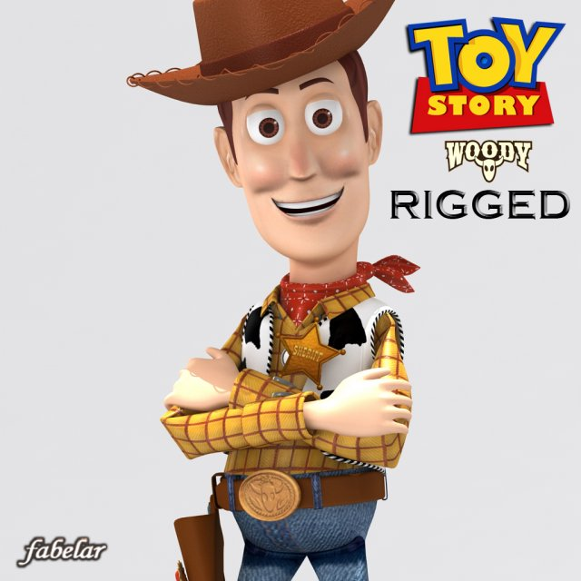 Woody Rigged 3D Model