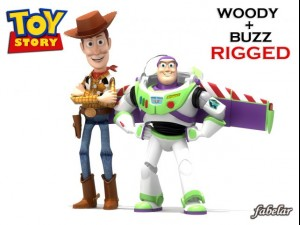 Buzz  Woody rigged