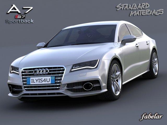 Audi A7 S7 Sportback 2012 3D Model