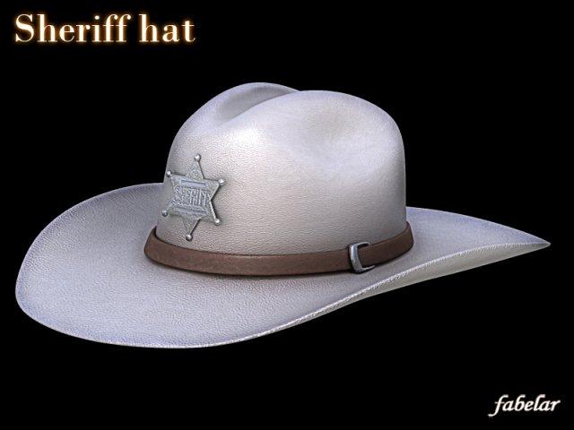 Sheriff hat 3D Model