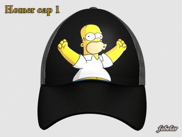 Homer Simpson cap 1 3D Model