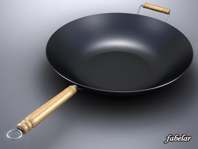 Wok 3D Model