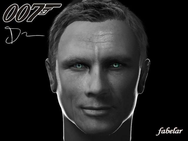 Daniel Craig 3D Model