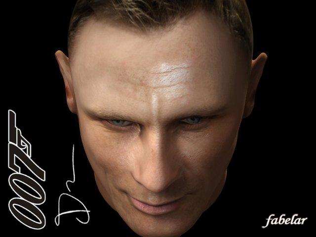 Daniel Craig Std Mat 3D Model