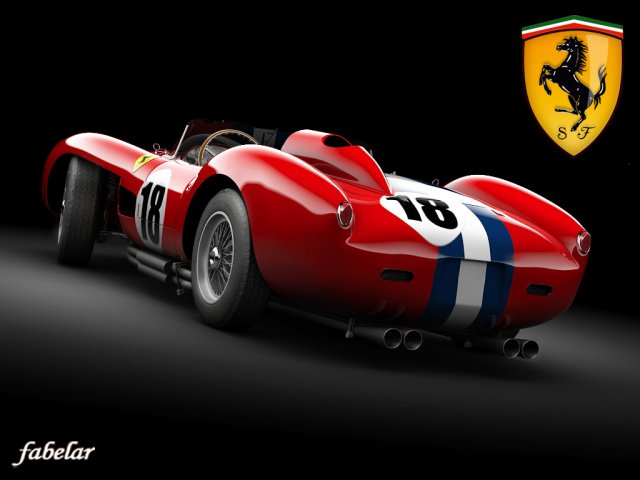 Ferrari 250 mod 1 STD MAT 3D Model