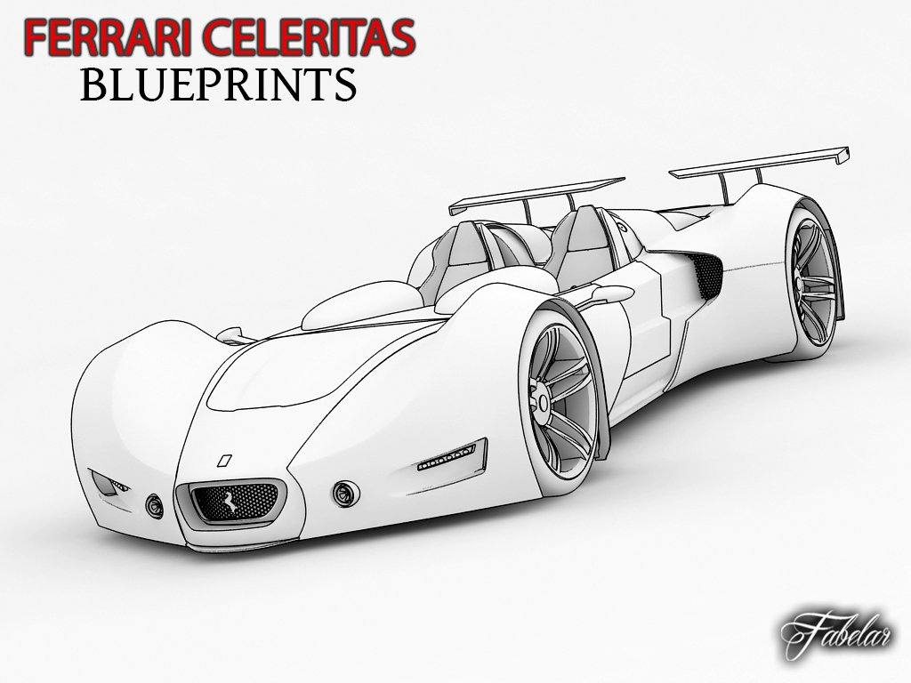 Ferrari celeritas blueprints 3d model in cars 3dexport malvernweather Images