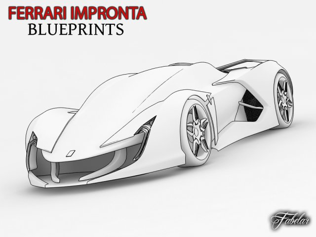 Ferrari impronta blueprints 3d model in cars 3dexport ferrari impronta blueprints 3d model malvernweather Images