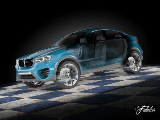 BMW X4 concept std mat 3D Model