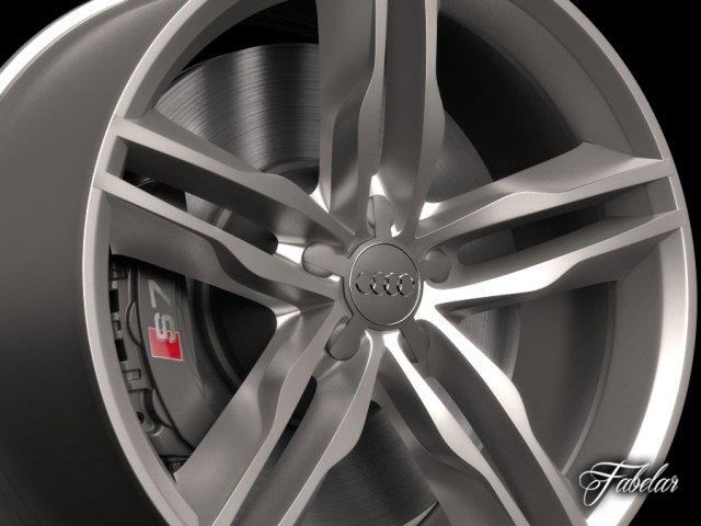 Audi S7 rim 3D Model
