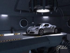 Alfa 4C  garage