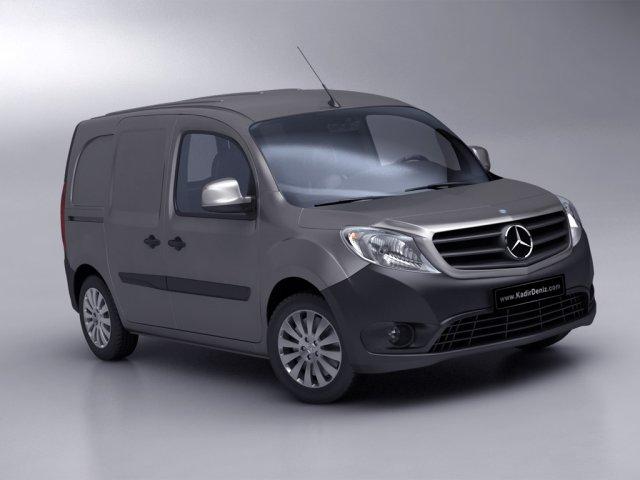 Mercedes Citan Van 2013 Low Poly 3D Model