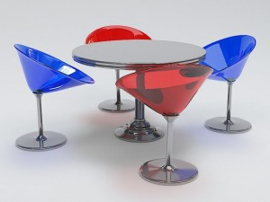 Modern Round Table and Chair Set