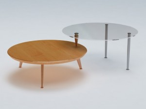Round End Cocktail Table