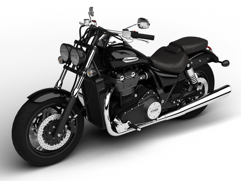 Triumph Thunderbird Storm 2015 3D Model in Motorcycle 3DExport
