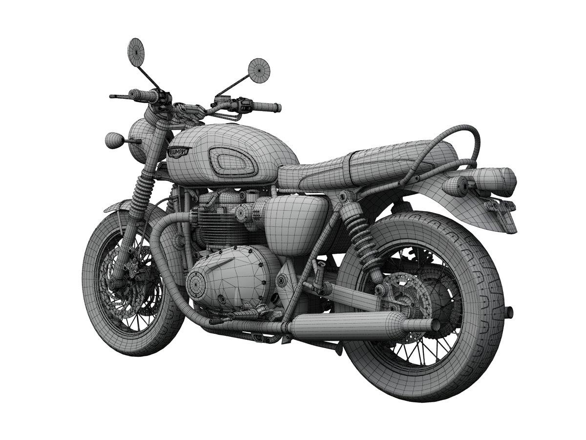 Triumph Bonneville T120 Black 2016 3d Model In Motorcycle 3dexport