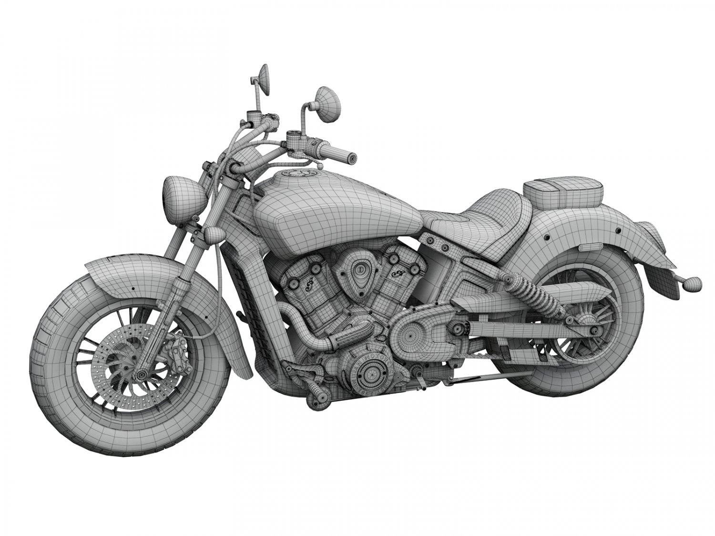 3D Indian Scout ABS 2018 3D Model in Motorcycle 3DExport