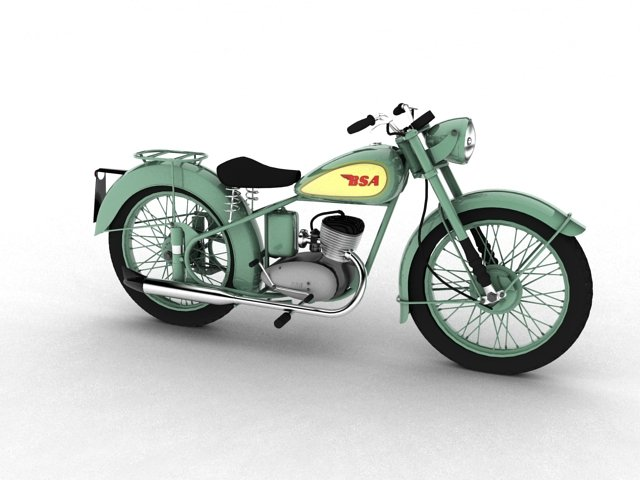 BSA Bantam D1 1948 Free 3D Model in Motorcycle 3DExport