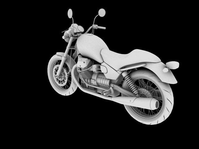 Moto Guzzi Nevada Anniversario 2011 3D Model in Motorcycle