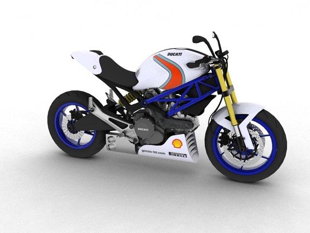 Ducati Monster 796 Racer 2012 3D Model