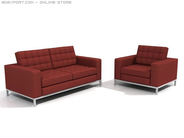 Knoll Style Chairs 3D Model