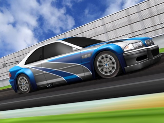 BMW M3 E46 GTR Most Wanted 3D Model