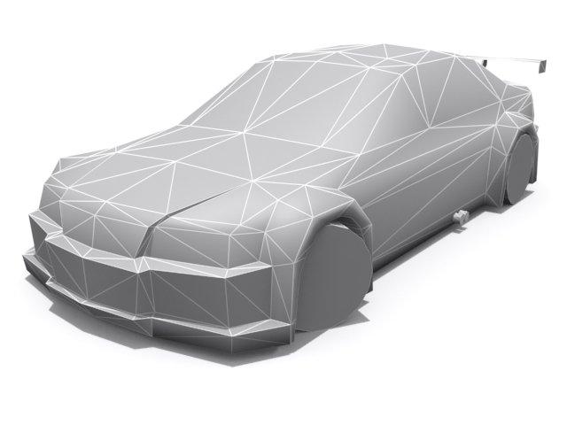 BMW M3 E46 GTR Base 3D Model