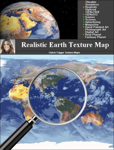 Earth Texture Map 3D Model in Landscapes 3DExport