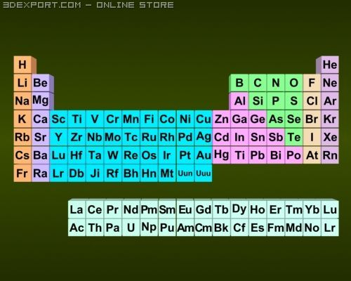 3d Periodic Table 3d Model In Other 3dexport