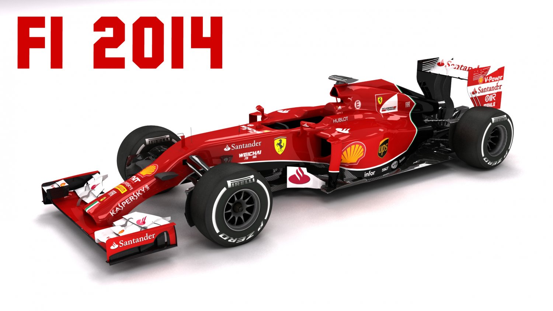 F1 2014 Ferrari F14t 3d Modell In Rennesport 3dexport
