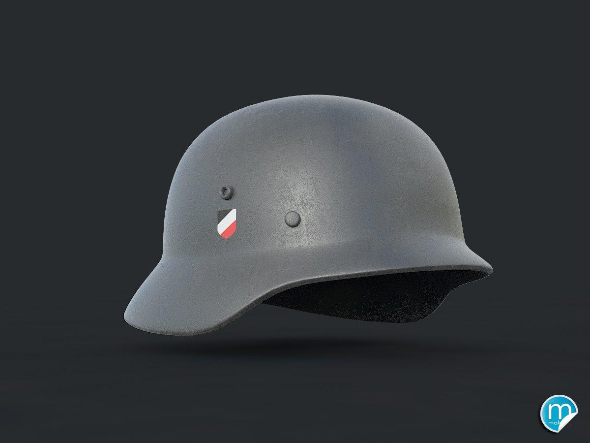 WW2 German helmet - Stahlhelm 3D Model in Combat 3DExport