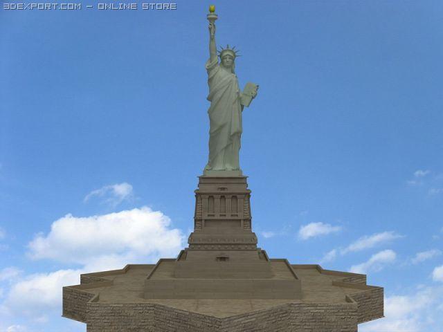 statue of liberty free 3d model in environment 3dexport