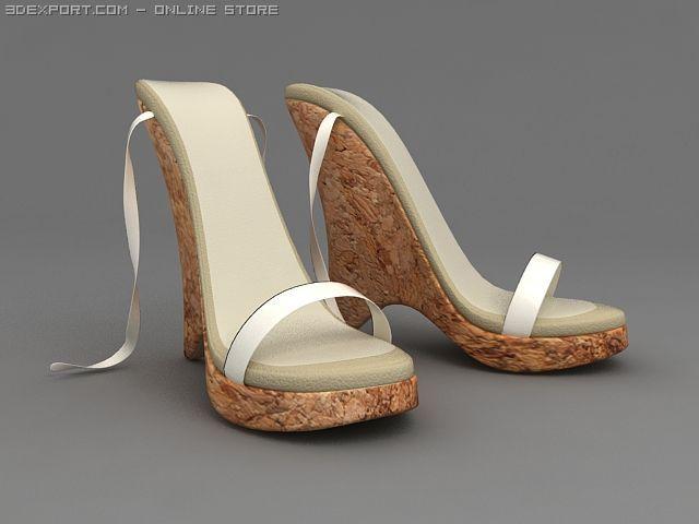 High Heeled Sandals 3D Model