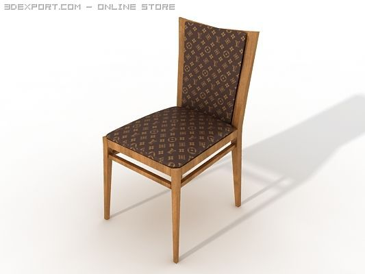 d019331d8ffc Charmant Louis Vuitton Side Chair 3D Model .c4d .max .obj .3ds .