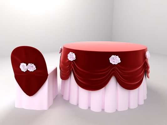 Table Chairs for Wedding Banquet 3D Model in Table 3DExport