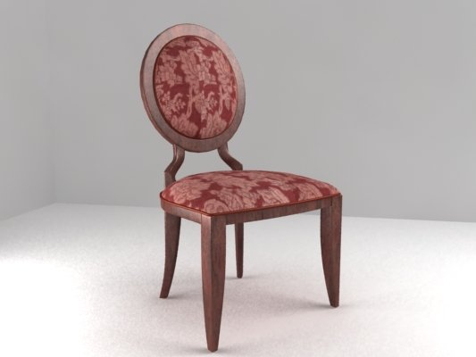 Antique chair armless 3D Model