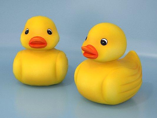 The Rubber Duck Bathtub Toy 3D Model