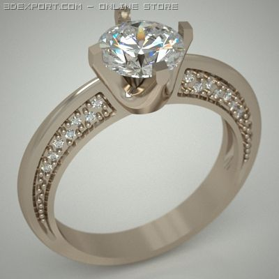 Wedding ring Free 3D Model in Jewellery 3DExport