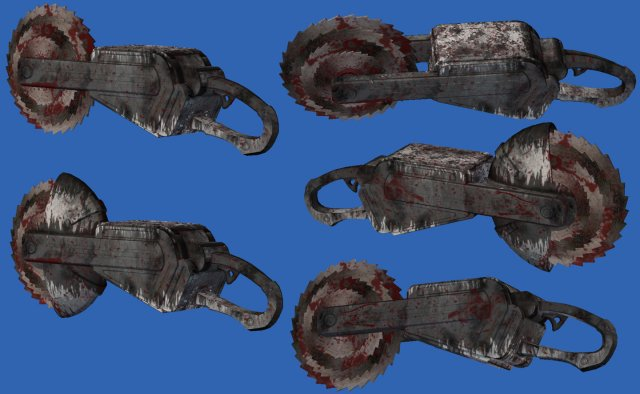 Piranha War Saw 3D Model