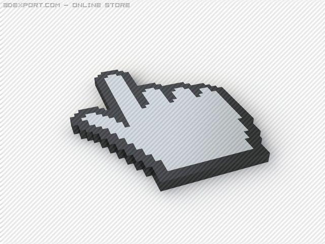 Cursors 3D Model in Computer 3DExport