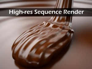 Mousse of Chocolate with render image sequence