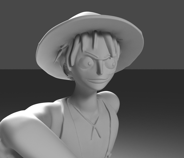 One Piece Monkey D Luffy 3D Model in Cartoon 3DExport
