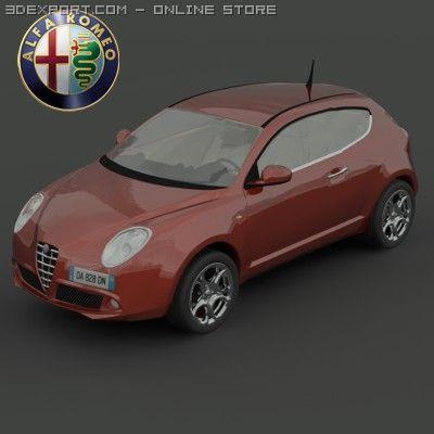 AlfaRomeo MiTo 2008 3D Model
