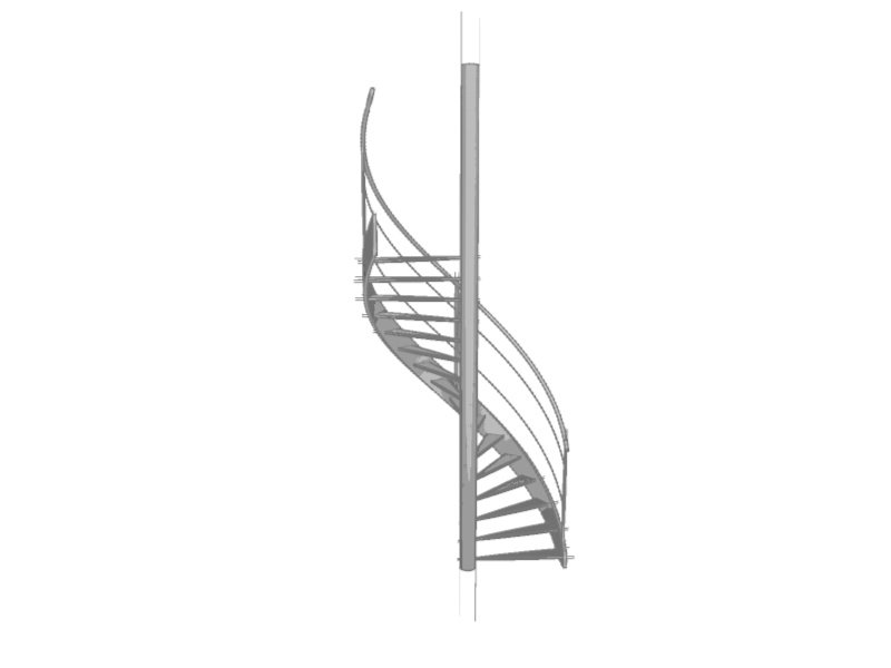 Spiral Staircase 3D Model in Miscellaneous 3DExport