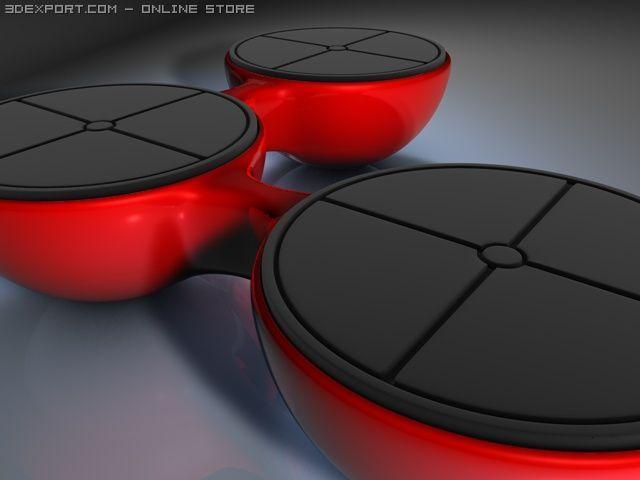 Molecule Bench 3D Model