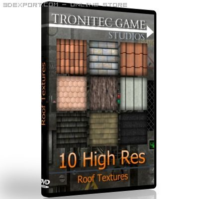 10 High Res Roof Textures 3D Model