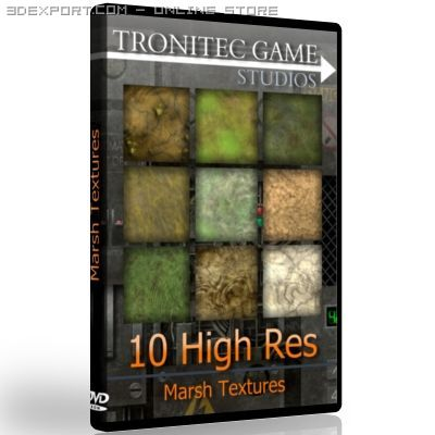 10 High Res Marsh Textures 3D Model