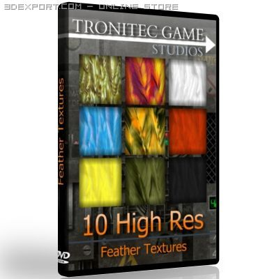 10 High Res Feather Textures 3D Model