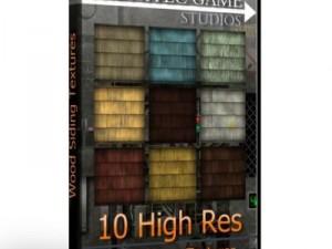 10 High Res Wood Sidings