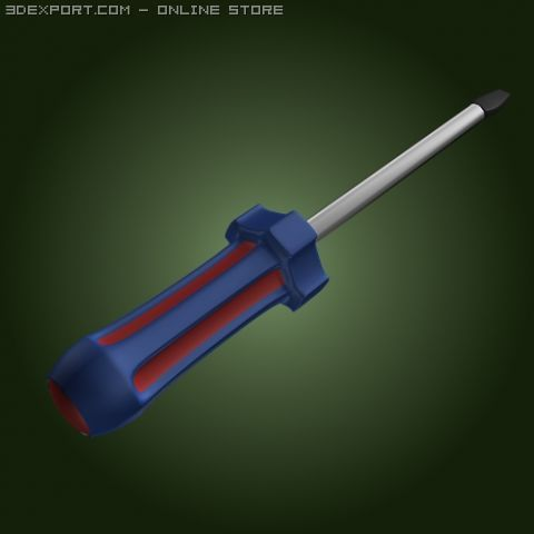 Screwdriver Screw Driver Tool 3 3D Model in Parts 3DExport