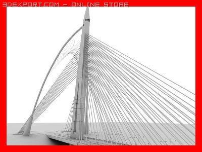 Bridge Seri Wawasan 3D Model in Bridge 3DExport